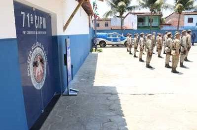 Moradores de Canavieiras e Una recebem Companhia Independente da Polícia Militar reformada