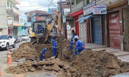 Emasa realiza serviços de desobstrução de redes de esgotamento sanitário
