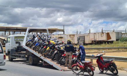 Operação da PRF flagra imprudências e mais de 100 motocicletas são apreendidas em Itabuna e outras cidades baianas