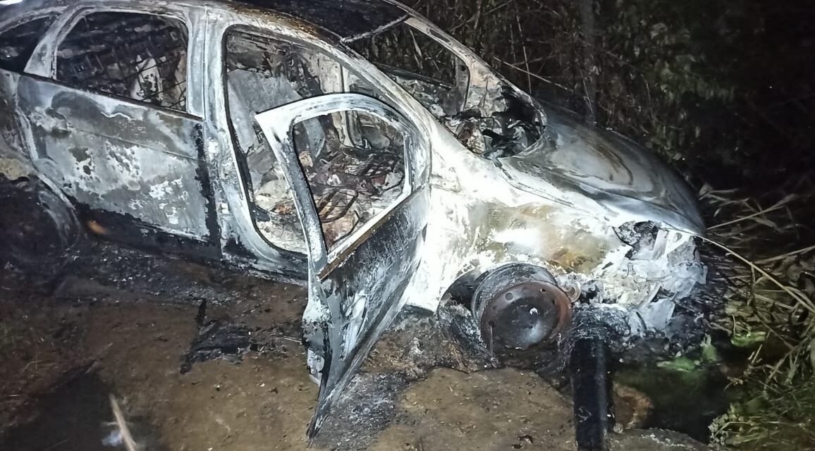 Carro carbonizado encontrado em Itapitanga pode ser de taxista desaparecido,diz polícia