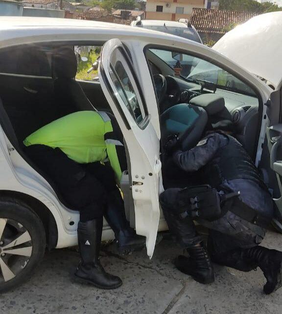 Agentes da Settran de Itabuna apreendem veículo com placa clonada