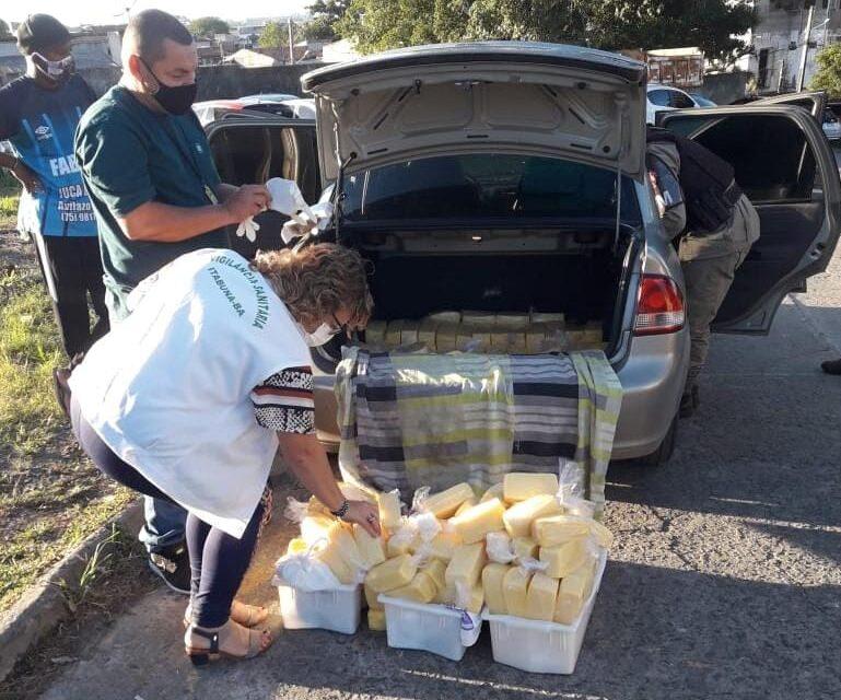 Vigilância Sanitária apreende 267 barras de produtos vendidos como requeijão em Itabuna