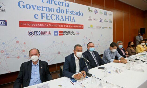 Rui alinha ações administrativas em reunião com presidentes de consórcios da Federação dos Consórcios Públicos do Estado da Bahia