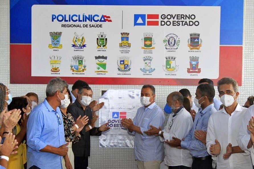 Rui inaugura policlínica em Serrinha e Bahia alcança 94% de cobertura em exames